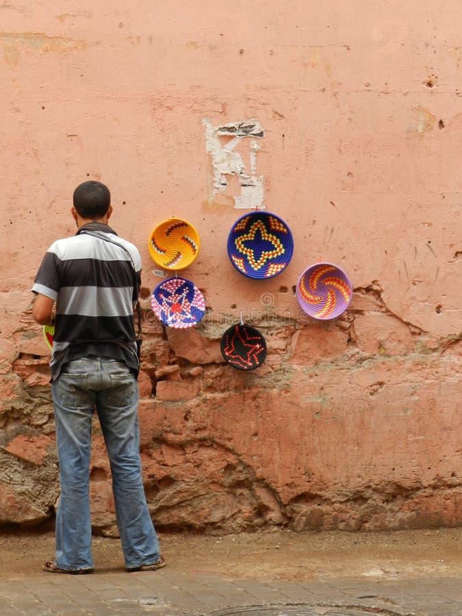 Marokański rzemieślnik obraz royalty free