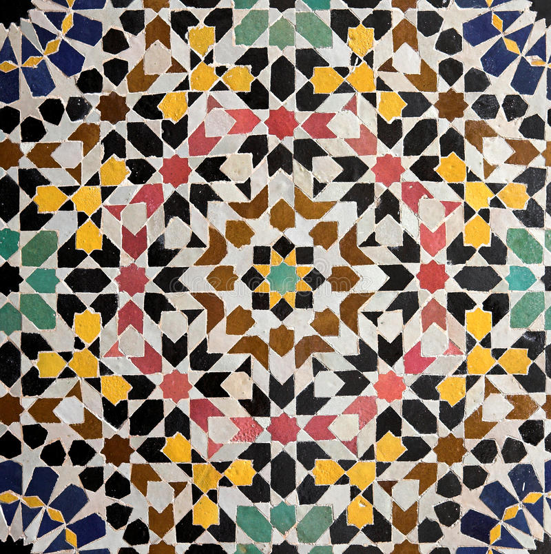 Marokański tilework fotografia royalty free