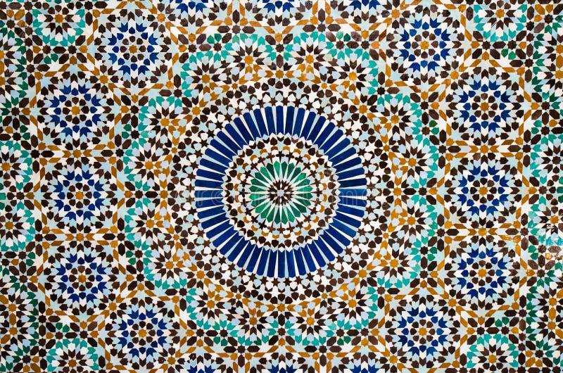 Marokańskiej rocznik płytki kolorowy tło ilustracja wektor