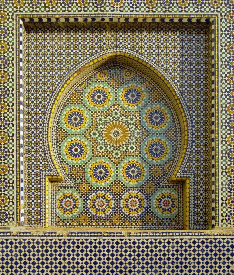 Marokańska mozaiki fontanna obraz royalty free
