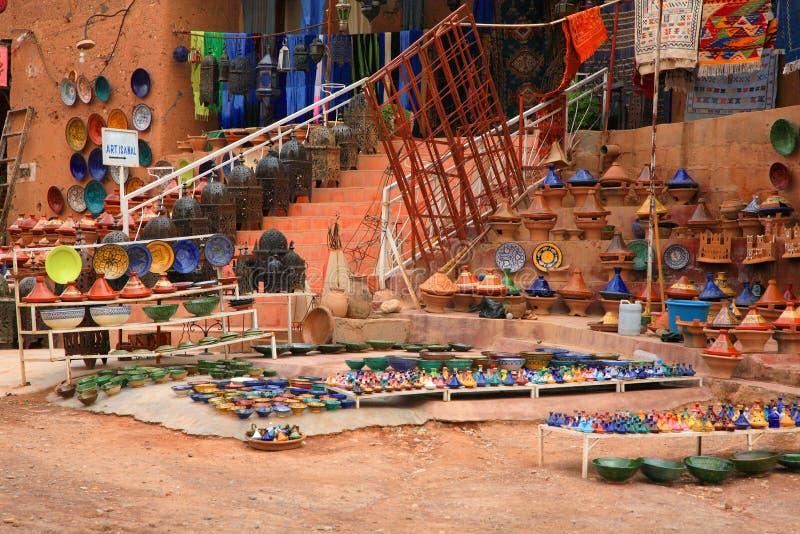 Marokkaans ambacht stock afbeelding