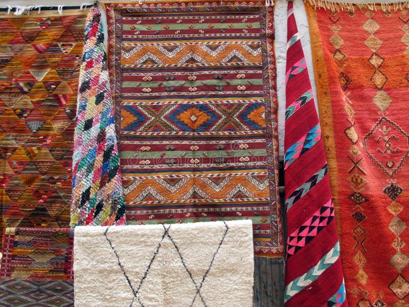Marokkaans Berber-tapijt stock afbeeldingen