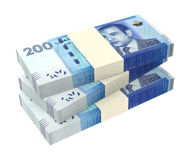Marokkaans die geld op witte achtergrond wordt geïsoleerd vector illustratie