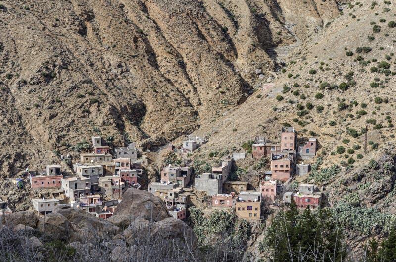Marokkaans dorp in de Atlasbergen Marrakech Marokko royalty-vrije stock afbeelding