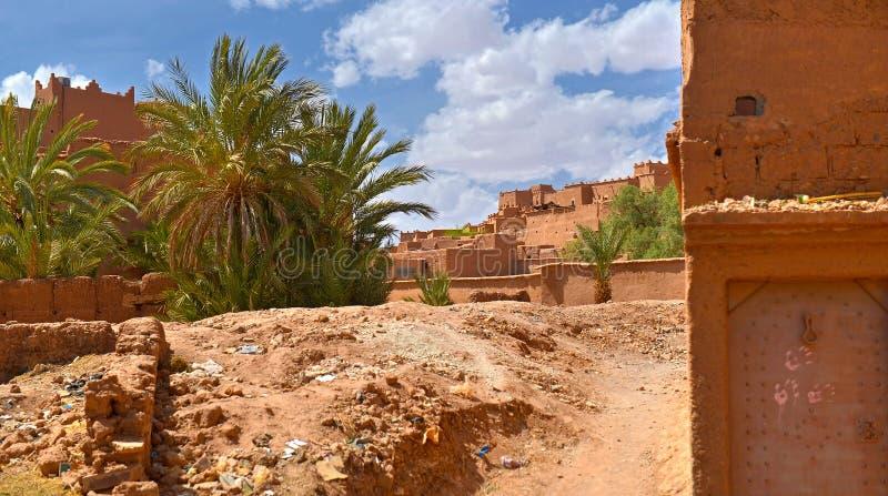 Marokkaans dorp in het zuidelijke deel royalty-vrije stock afbeeldingen