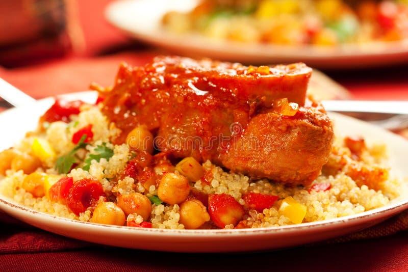 Marokkaans kalfsvlees stock fotografie