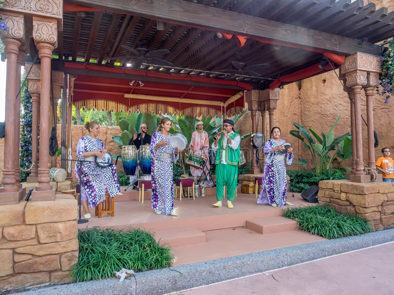 Marokkaans paviljoen, Wereldshowcase, Epcot stock foto's