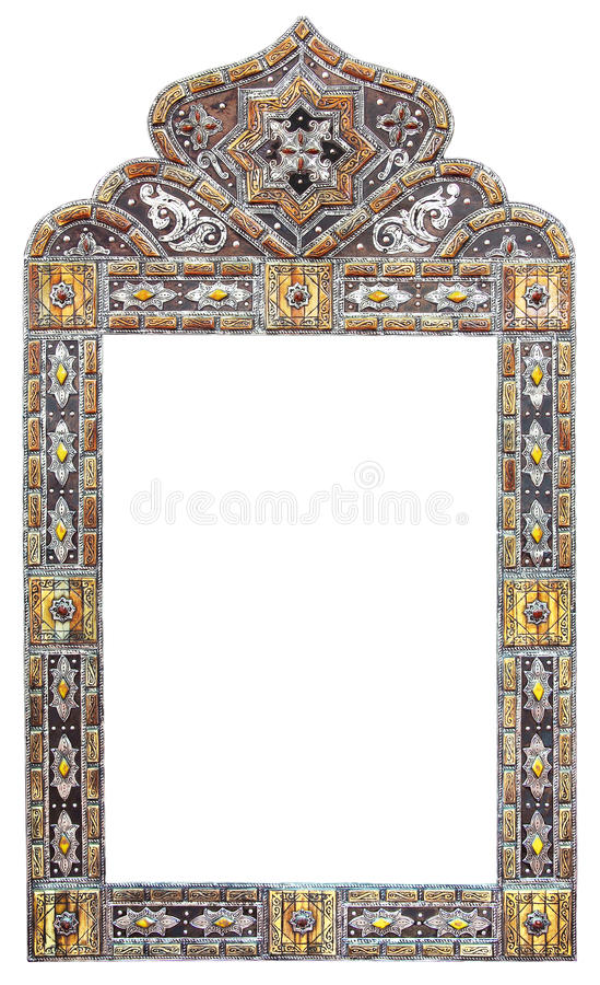 Marokkaans spiegelkader royalty-vrije stock afbeeldingen