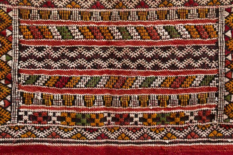 Marokkaans tapijt, close-up stock foto