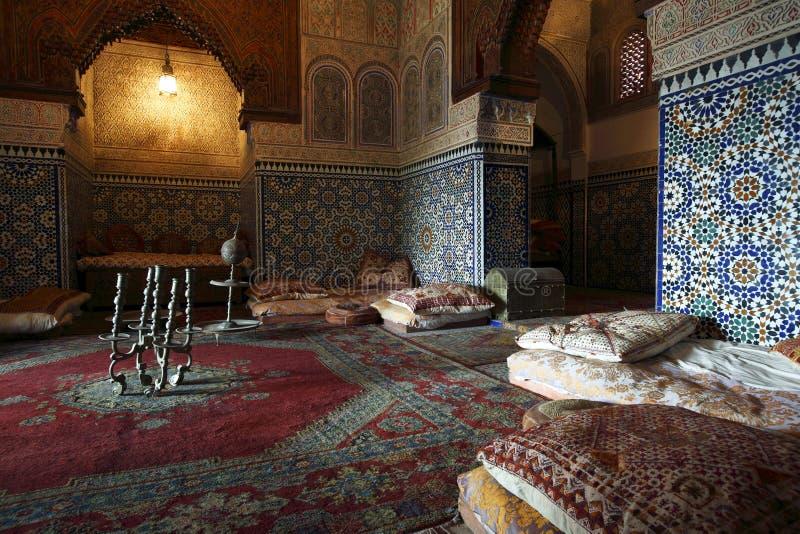 Marokkaanse binnenarchitectuur stock fotografie