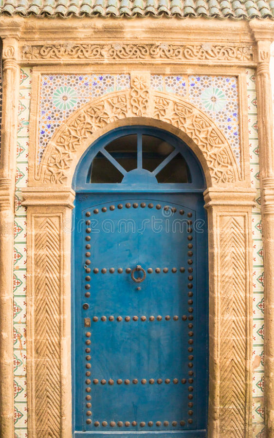 Marokkaanse Blauwe Deur royalty-vrije stock foto's