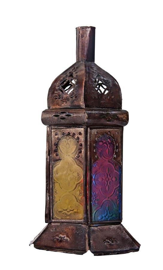 Marokkaanse bronslantaarn stock afbeeldingen