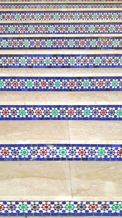 Marokkaanse decoratie van treden royalty-vrije stock foto