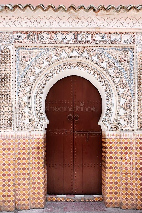 Marokkaanse deur. stock afbeeldingen