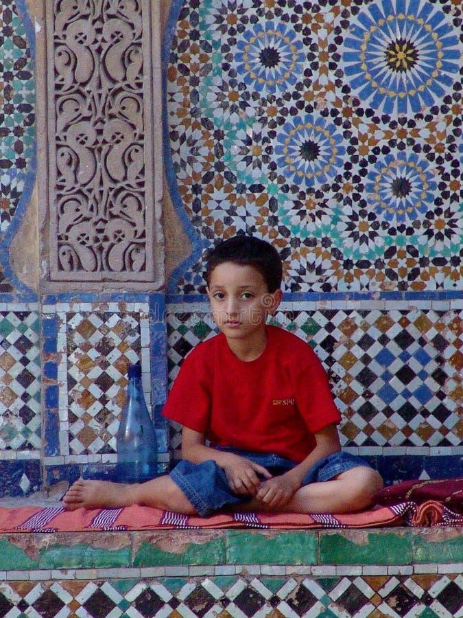 Marokkaanse Jongen royalty-vrije stock foto's