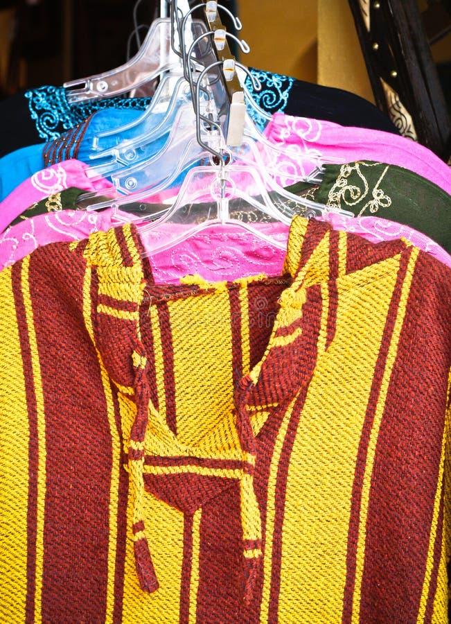Marokkaanse kleren royalty-vrije stock fotografie