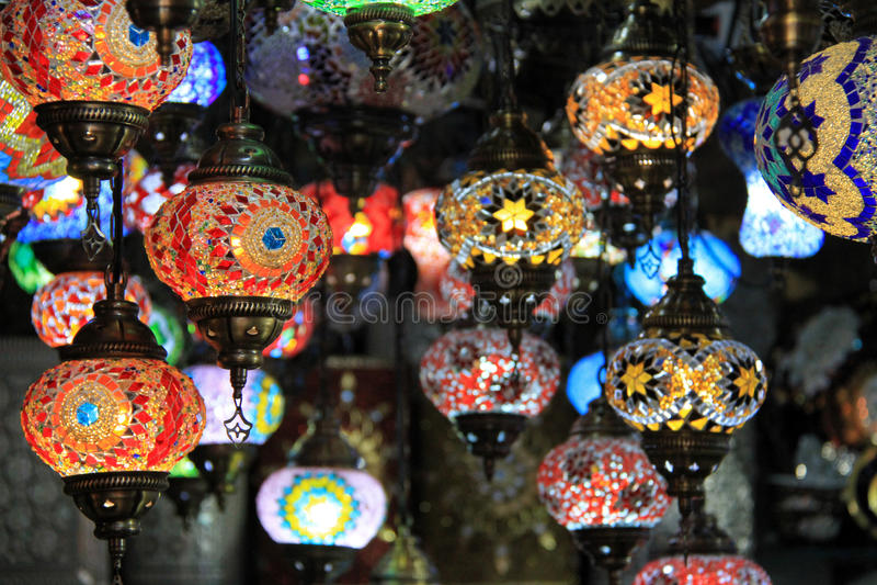 Marokkaanse lampen royalty-vrije stock afbeeldingen