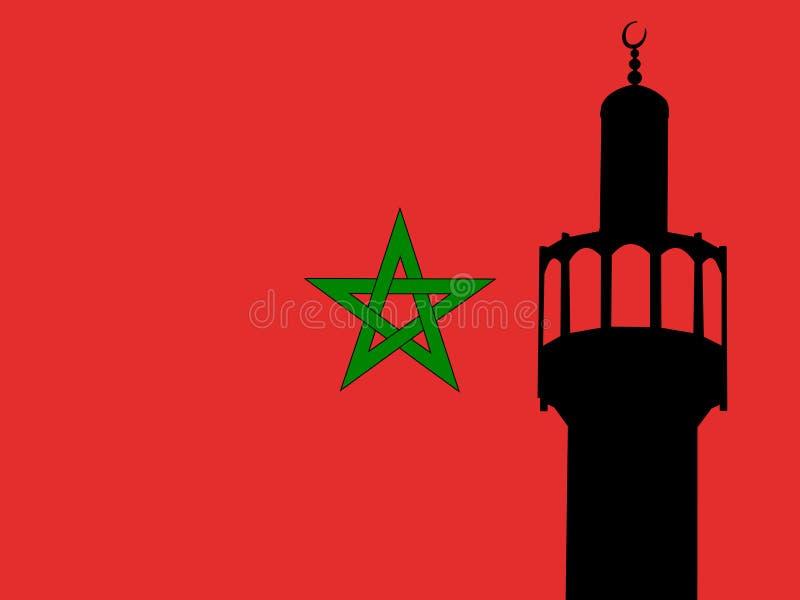 Marokkaanse Minaret royalty-vrije illustratie