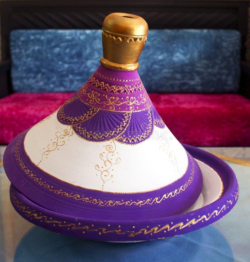 Marokkaanse tajine stock foto