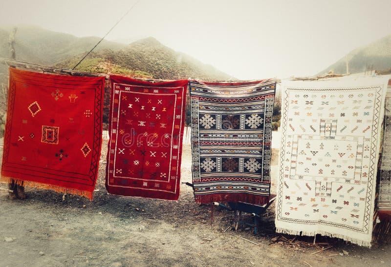 Marokkaanse tapijten royalty-vrije stock afbeelding