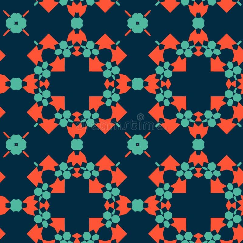 Marokkaanse tegels - naadloos patroon stock illustratie