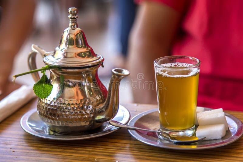 Marokkaanse thee stock afbeelding