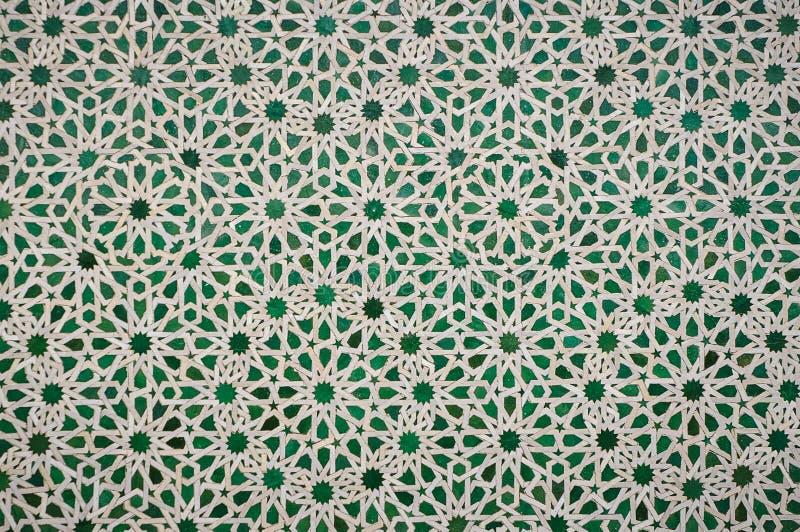 Marokkaanse uitstekende tegelachtergrond stock foto afbeelding
