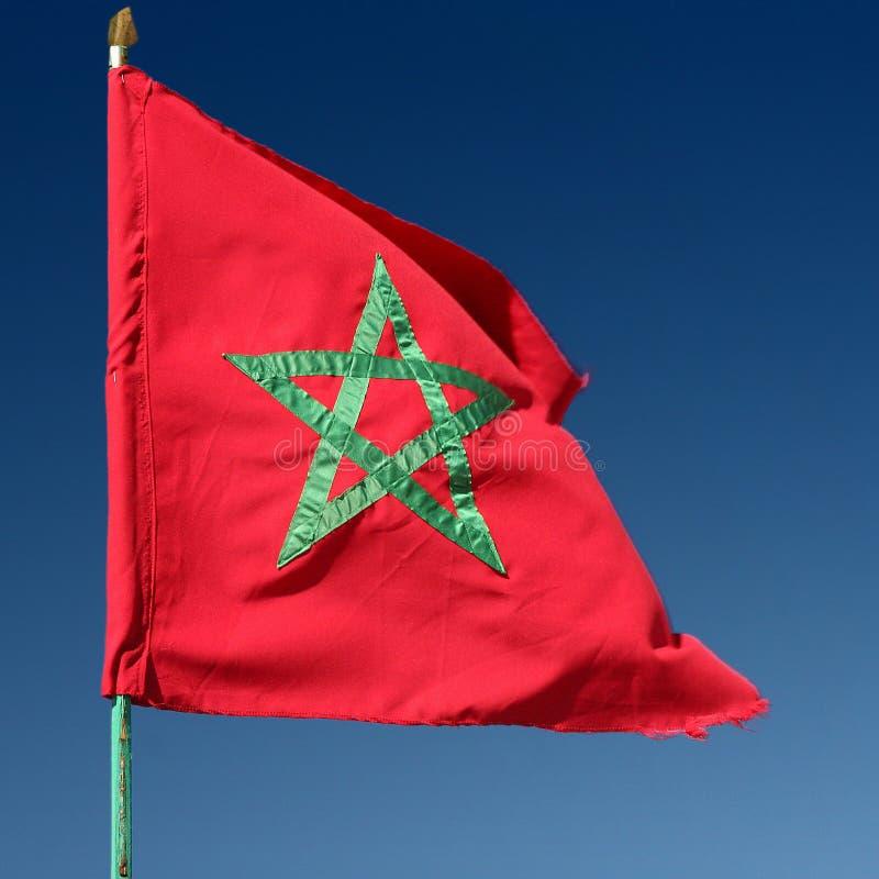 Marokkaanse vlag royalty-vrije stock foto