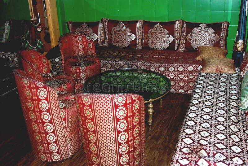 Marokkaanse woonkamer royalty-vrije stock afbeelding