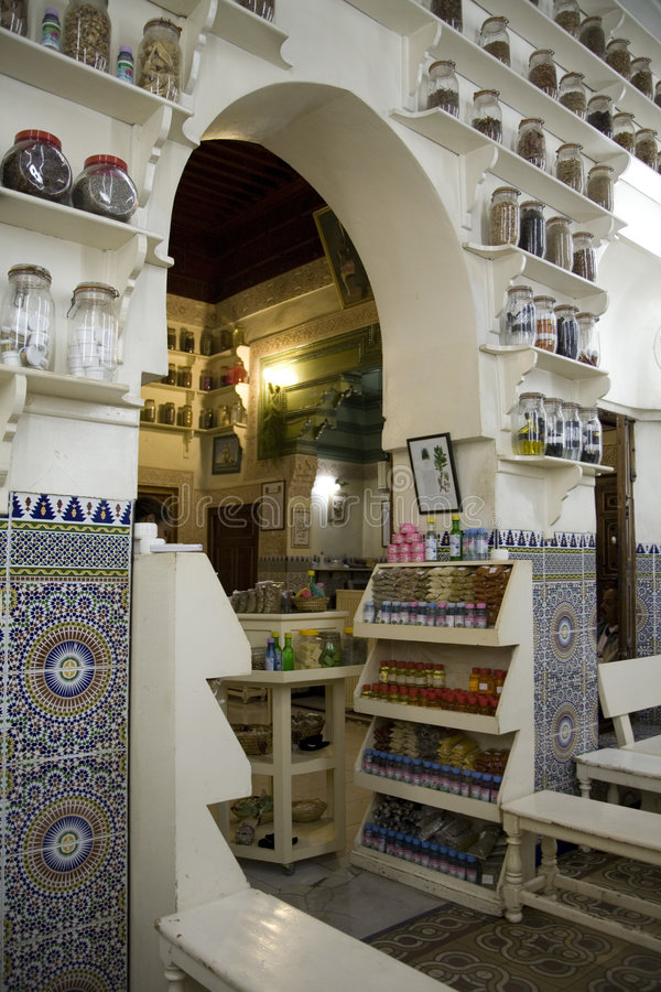 Marokkanische Apotheke stockfotos