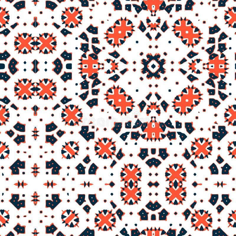 Marokkanische Fliese - nahtlose Verzierung vektor abbildung