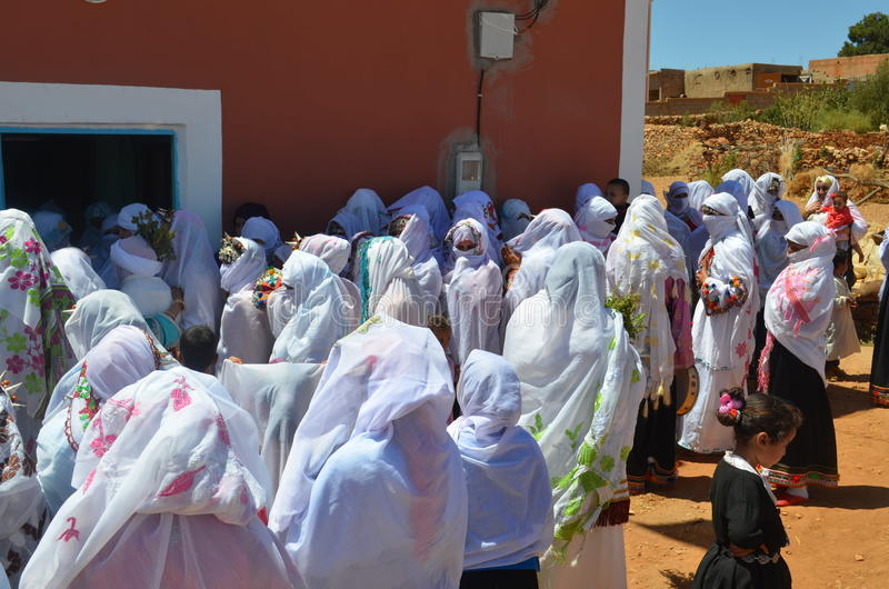 Marokkanische Hochzeit von Amazigh lizenzfreies stockfoto