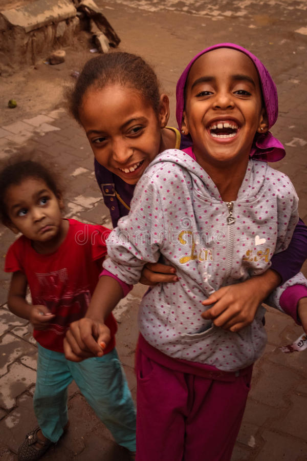 Marokkanische Kinder Ouarzazate marokko stockbilder
