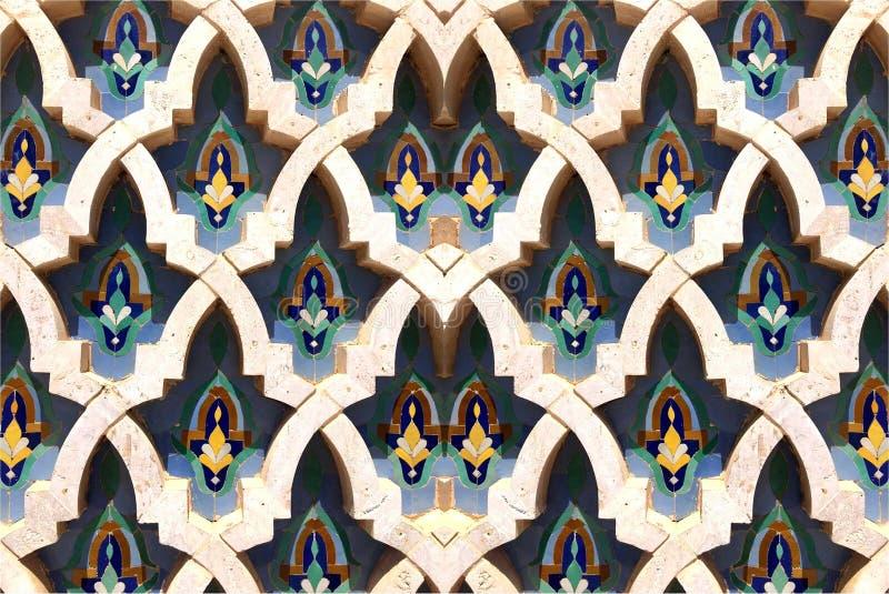 Marokkanische Muster auf dem Stein Steinblume stockbild