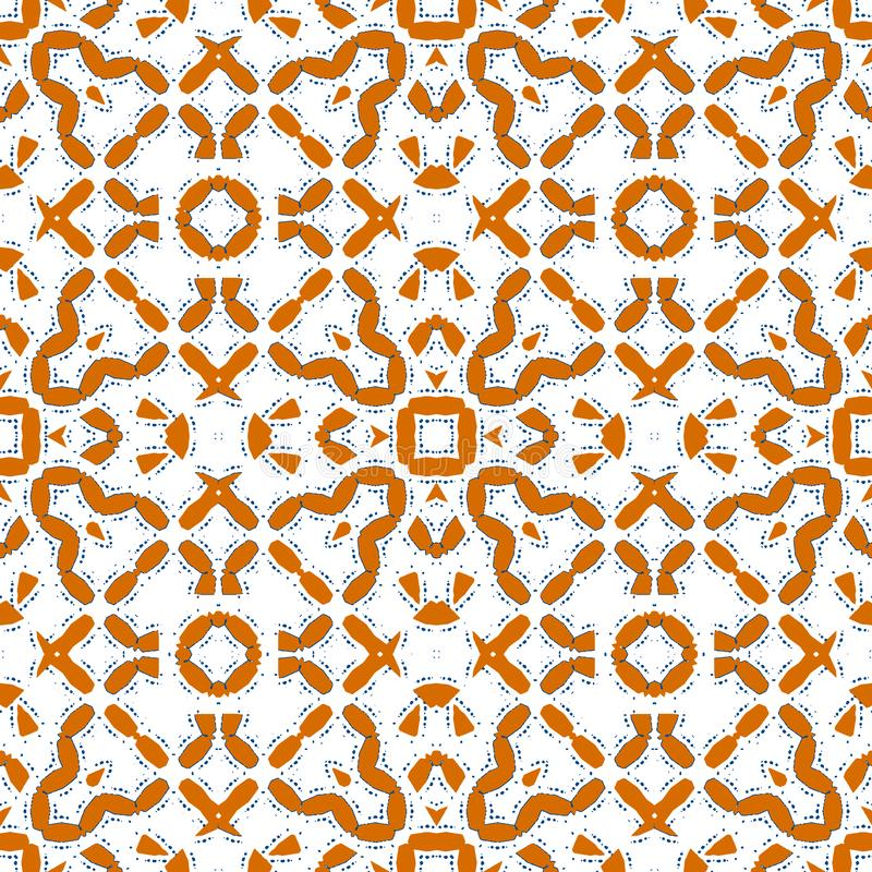 Marokkanische orange Fliese - orange nahtloses Muster vektor abbildung