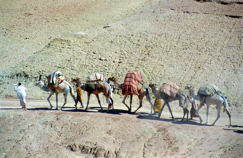 Marokkanische Pilgerer lizenzfreies stockfoto