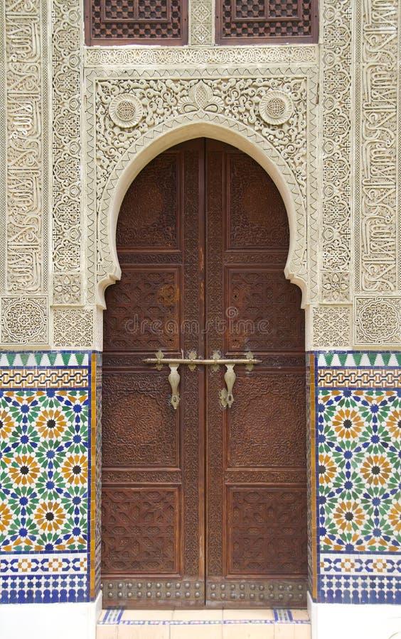 Marokkanische Tür stockfotos