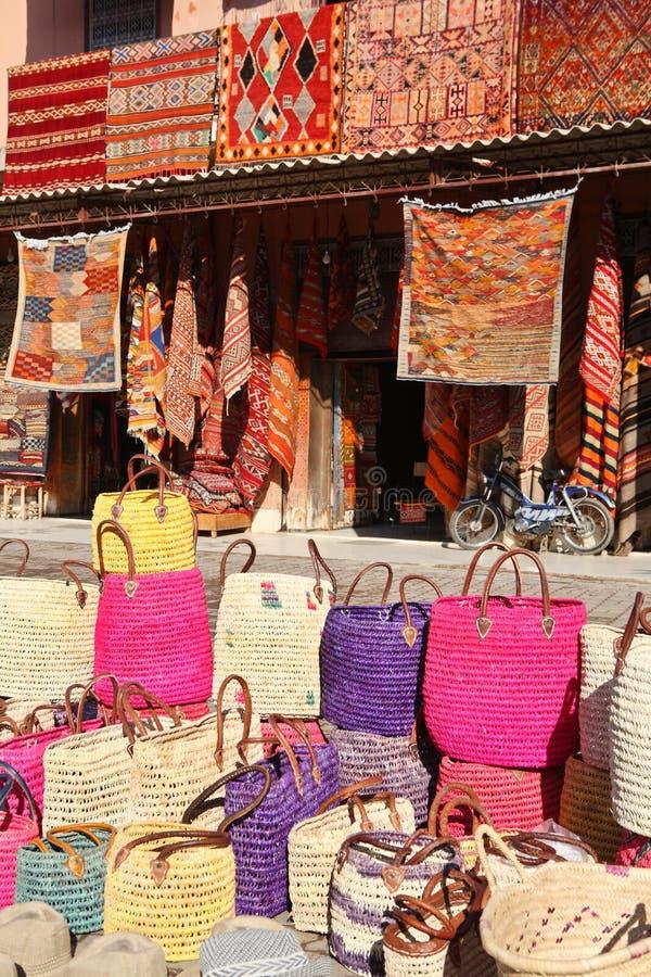 marokkanische teppiche stockbild bild von verkaufen marokko 7641525. Black Bedroom Furniture Sets. Home Design Ideas