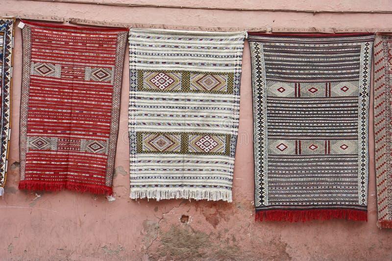 Marokkanische Wolldecken stockfotografie