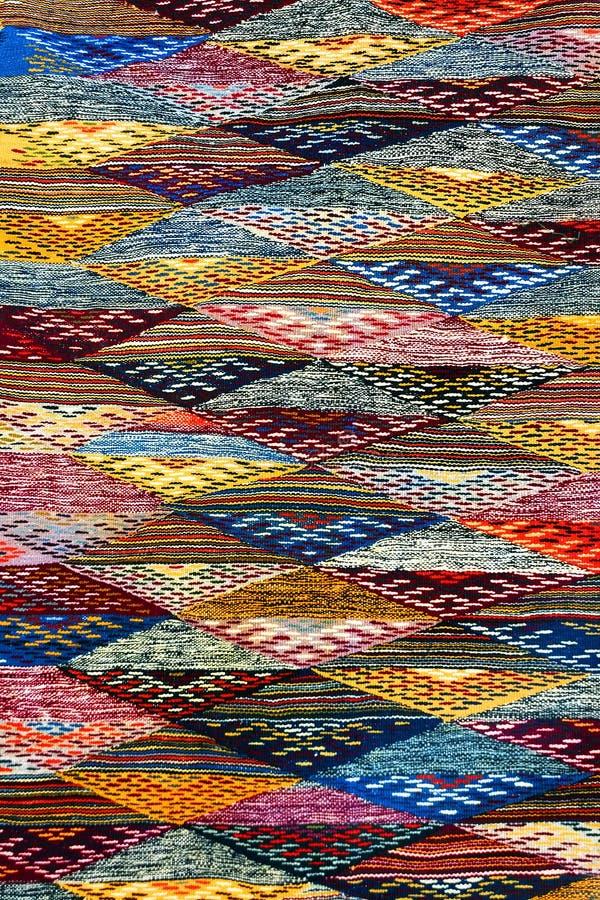 Marokkanischer Teppichhintergrund stockbilder
