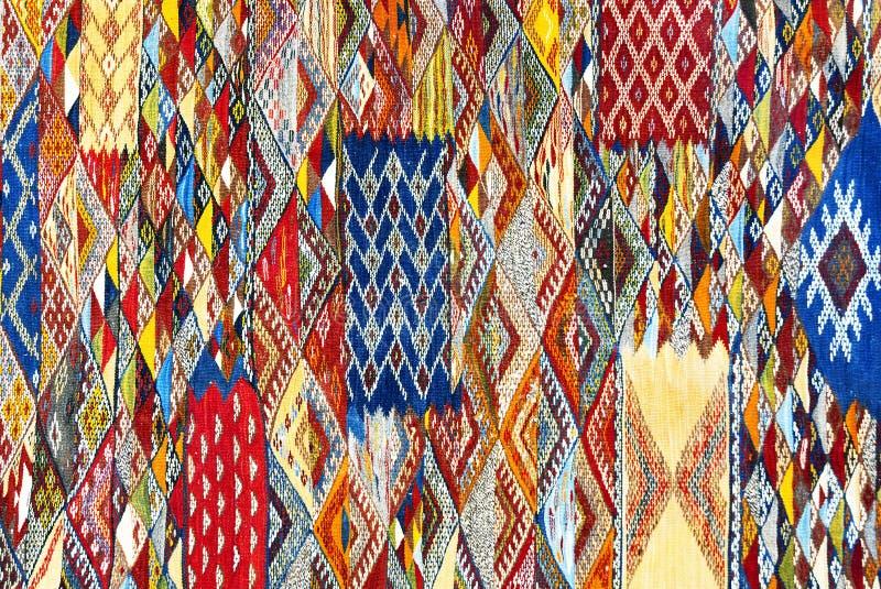 Marokkanischer Teppichhintergrund stockfoto