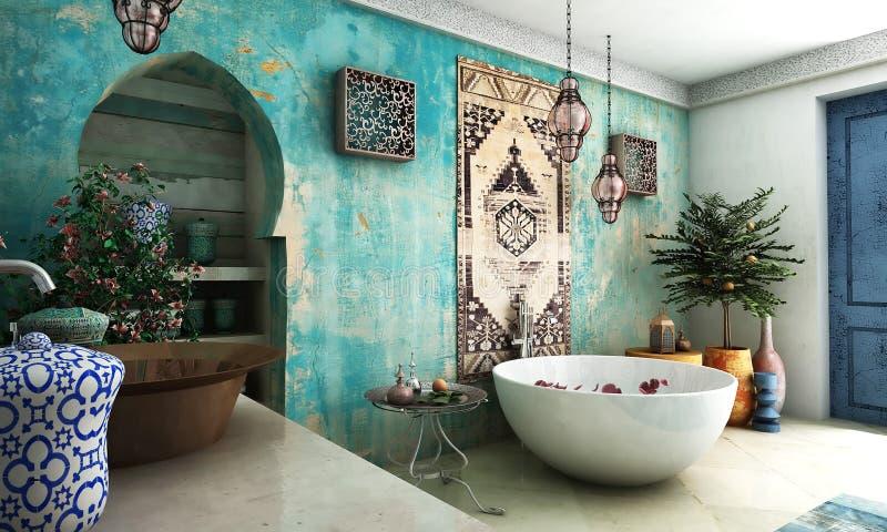 Marokkanisches Badezimmer stockfotos