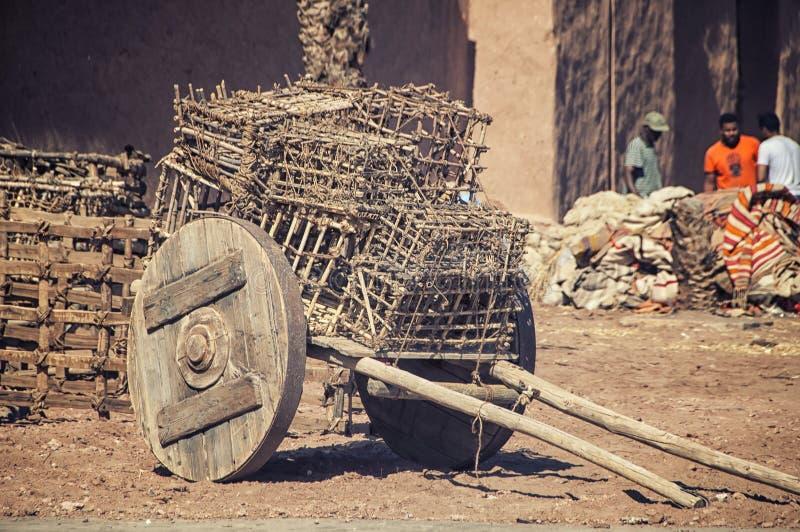 Marokkanisches Dorf stockbild