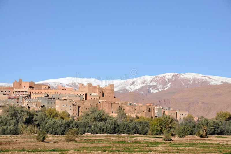 Marokkanisches Dorf stockfoto