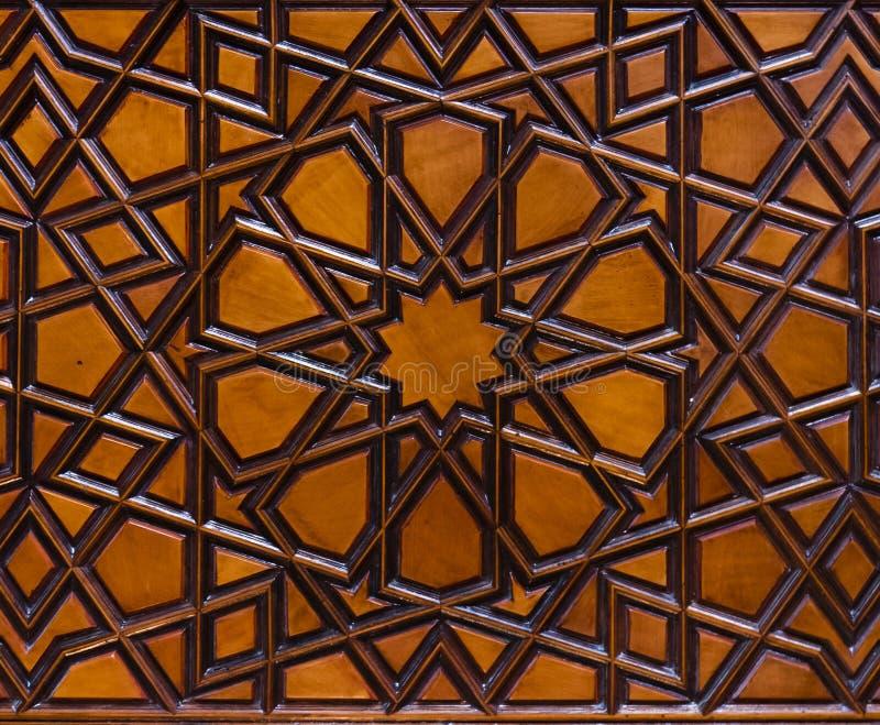 Marokkanisches hölzernes Muster stockbilder