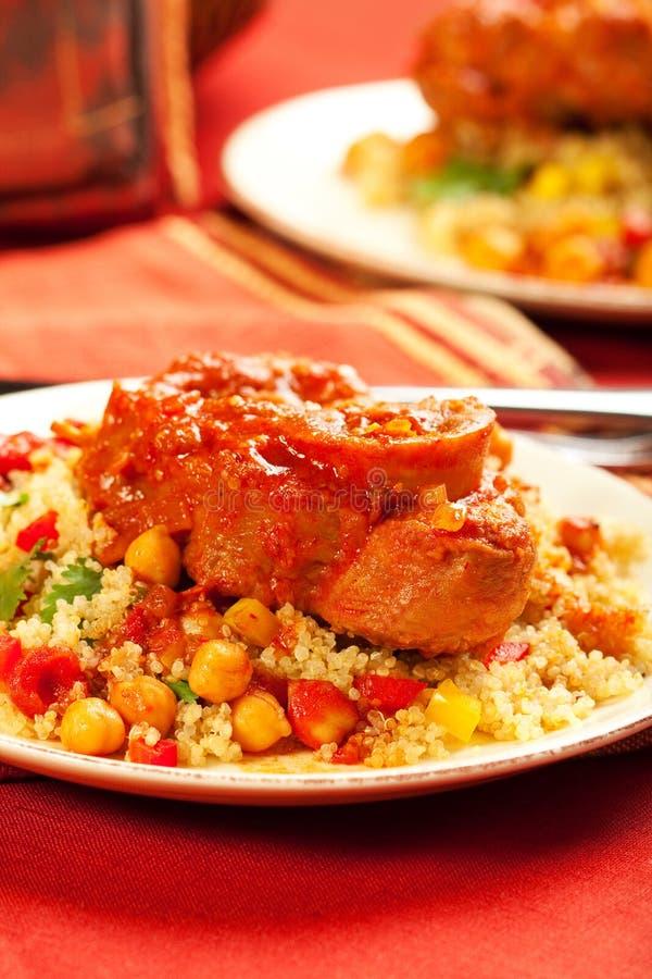 Marokkanisches Kalbfleisch stockfoto
