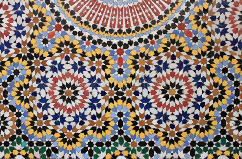 Marokkanisches Mosaik stockfoto