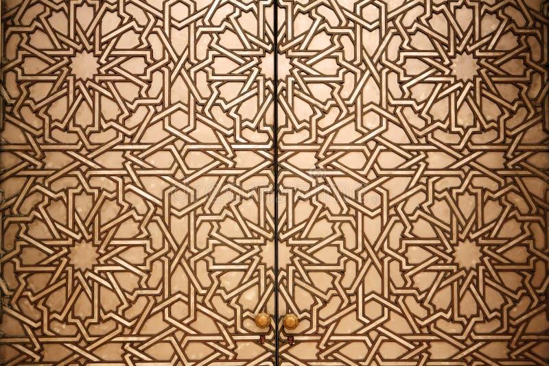 Marokkanisches Türdetail lizenzfreies stockfoto