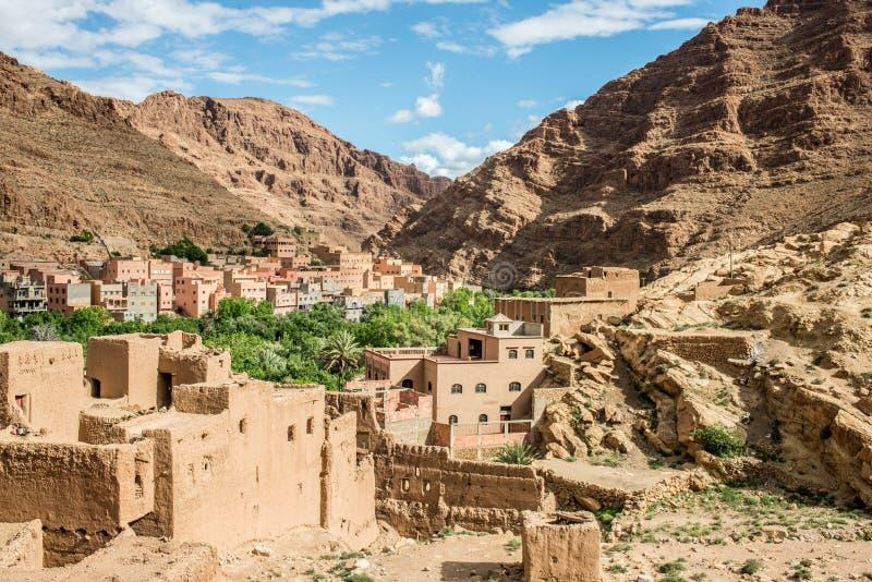 Marokko, die Todgha-Schluchten stockbilder