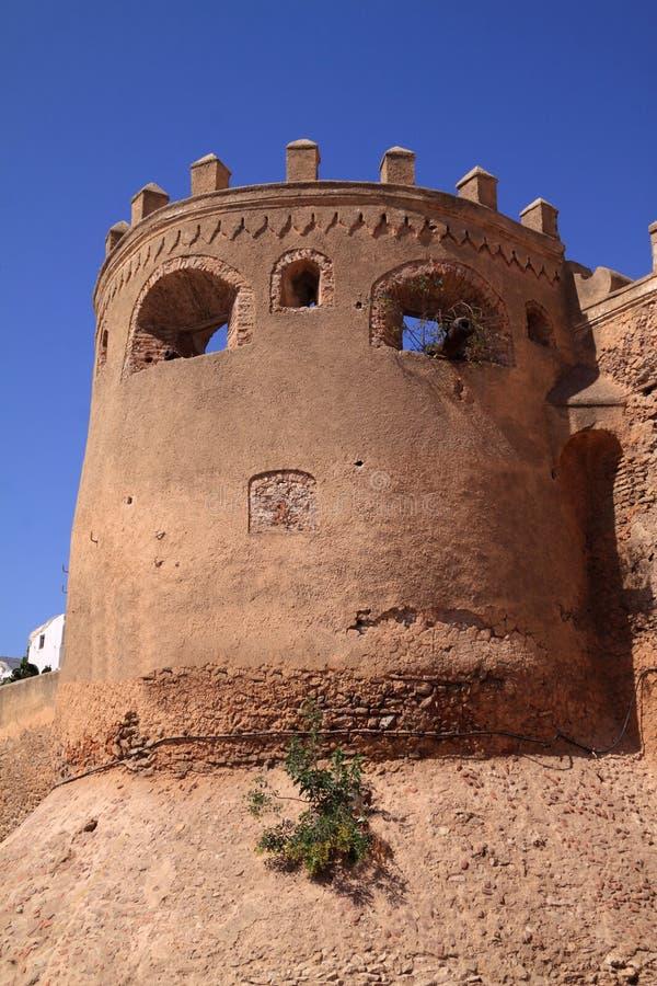 Marokko, EL Jadida, Azemmour Wände stockbild